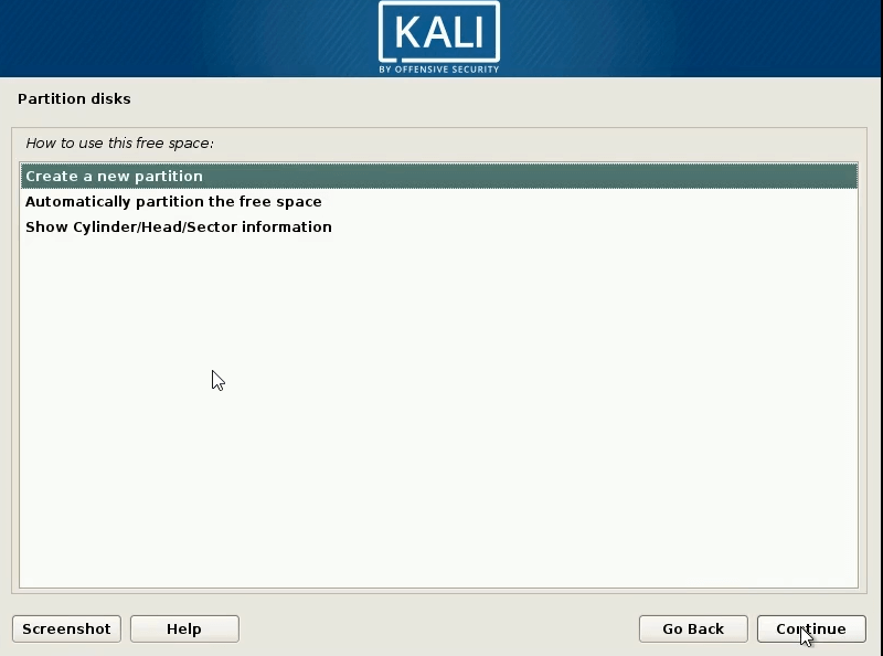 How to Dual Boot windows 10 and kali linux create a new partion
