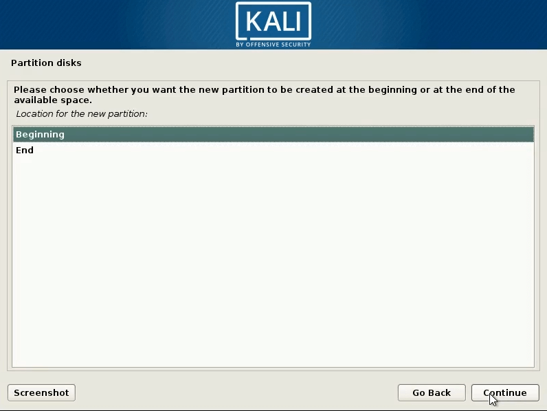 How to dual boot windows 10 and kali linux select begining