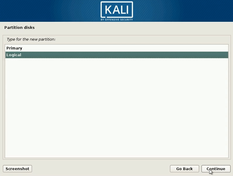 How to dual boot windows 10 and kali linux select logical