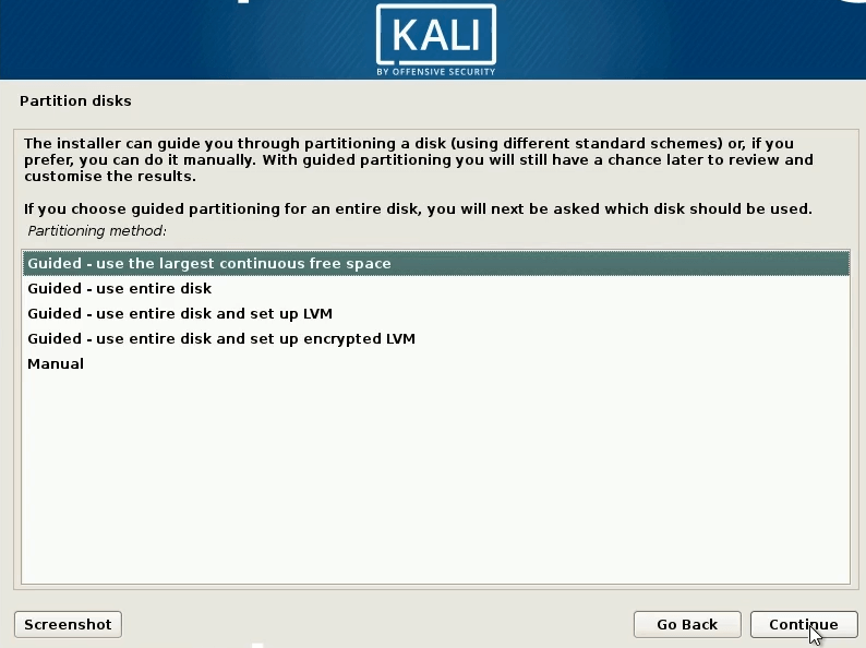 How to Dual Boot windows 10 and kali linux select manual