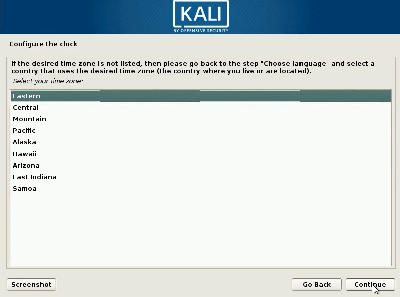 How to Dual Boot windows 10 and kali linux select timezone
