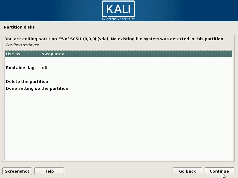 How to dual boot windows 10 and kali linux done setting up the partion