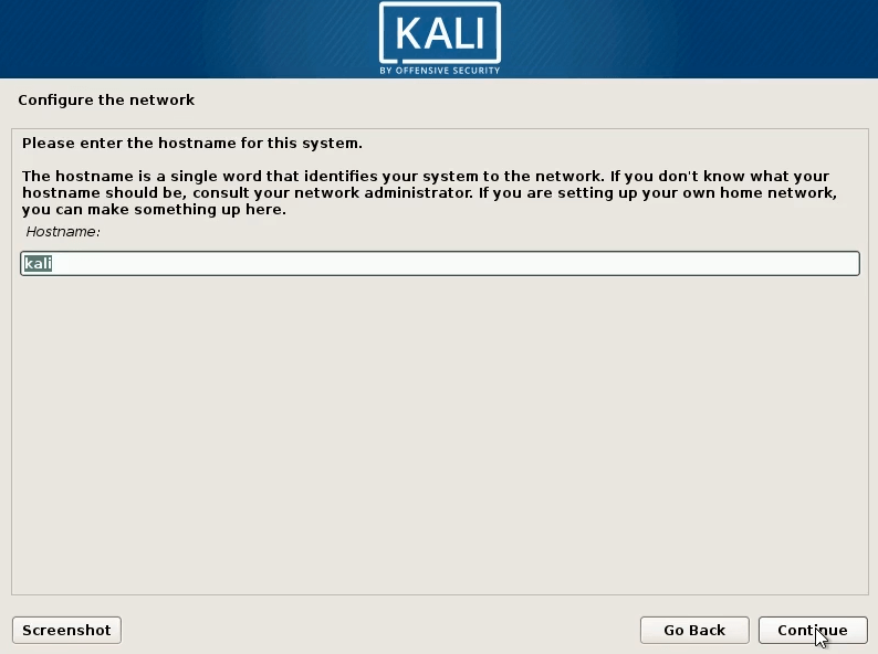 How to Dual Boot windows 10 and kali linux select hostname