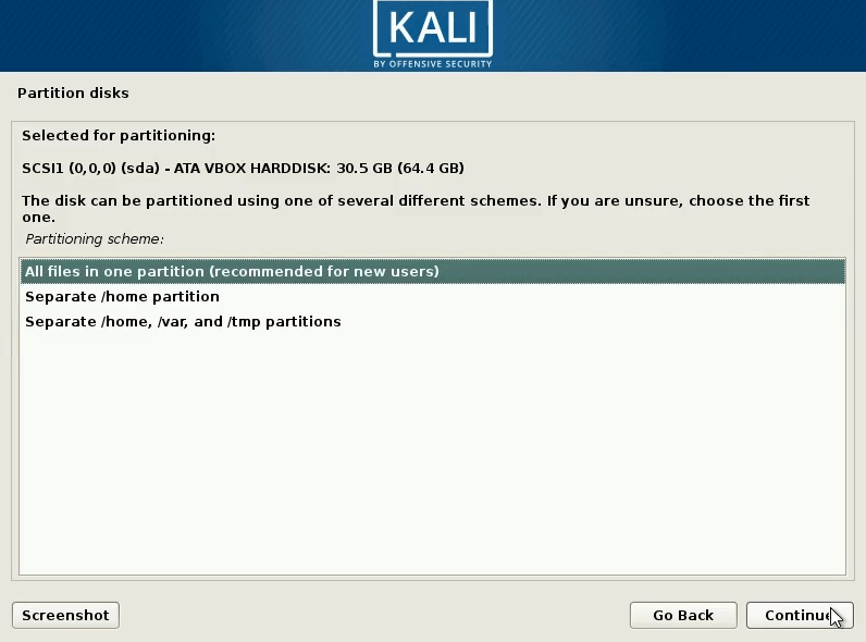 How to dual boot windows 10 and kali linux select all files in one partition