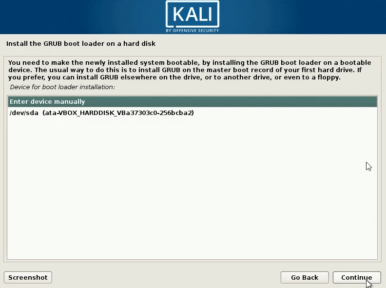 How to dual boot windows 10 and kali linux select the hdd