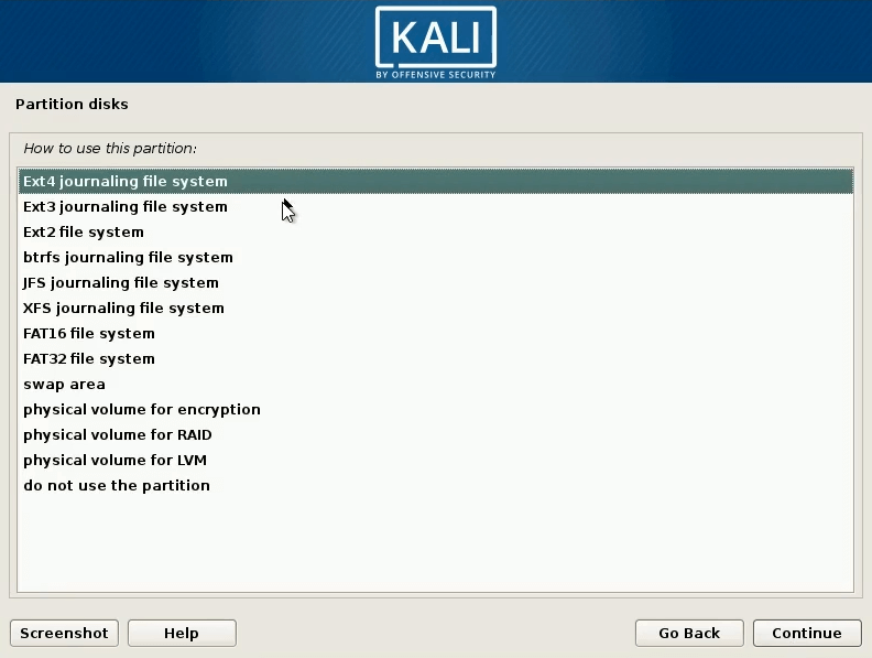 How to dual boot windows 10 and kali linux slect swap area