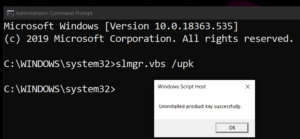 How to activate windows 10 using command line1
