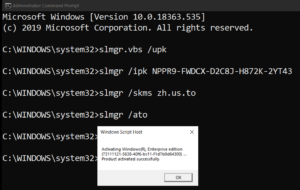 how to activate windows 10 with command line 5