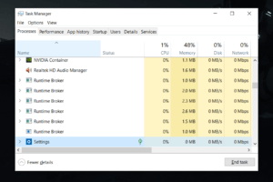 what is task manager in windows 10