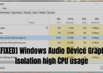 [FIXED] Windows Audio Device Graph Isolation high CPU usage