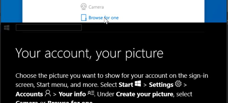how to personalize windows 10 change your account picture