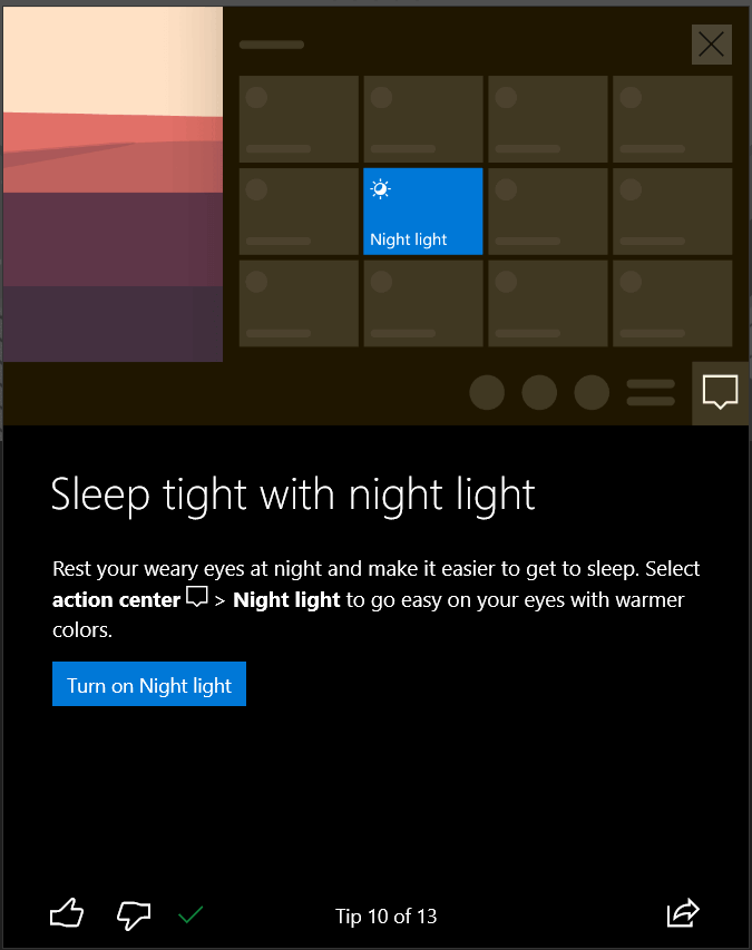 how to personalize windows 10 enable night light