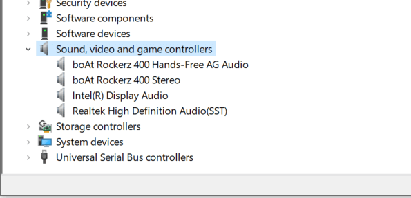 open device manager find and update audio drivers
