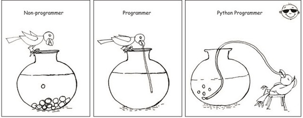 why python is better than java or anyother language python meme