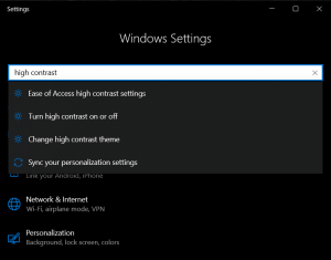 How to enable dark mode in windows 10 with windows 10 high contrast feature
