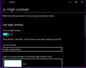 How to enable dark mode in windows 10 with windows 10 high contrast feature without any app