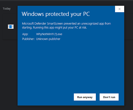 Download whynotwin11 compatibility checker tool to check if you can upgrade to Windows 11
