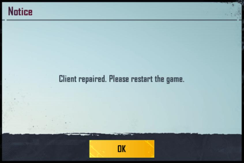 repair bgmi